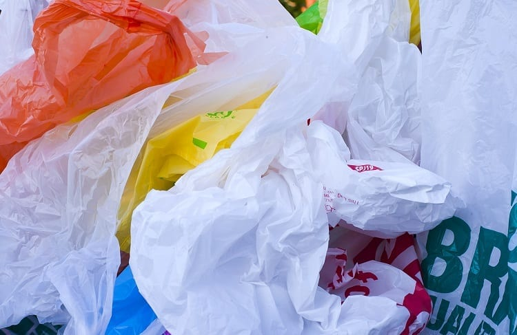 Different Plastic Bags On Pile