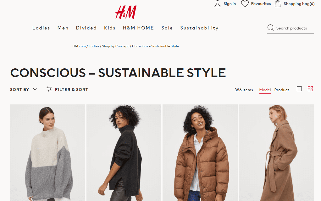 H&M - Ethical Clothing UK
