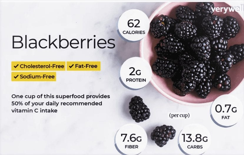 nutritional profile of blackberry