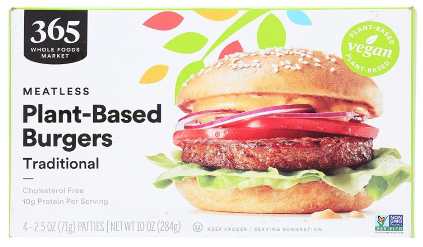 Screenshot of the 365 by Whole Foods Plant Based Vegan Burgers