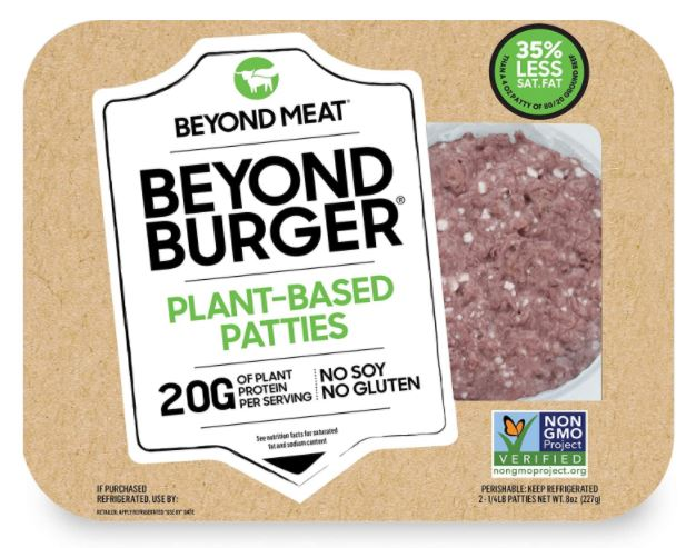 Screenshot of the Beyond Burger Vegan Burger