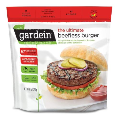 Screenshot of the Gardein Beefless Vegan Burger