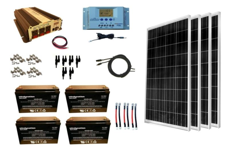 Screenshot of the WindyNation Complete Solar Panel Kit