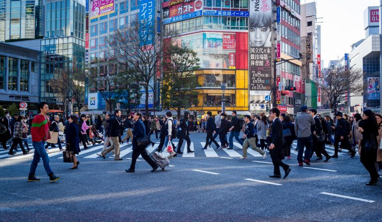 Crowded City Streets Royalty Free Image