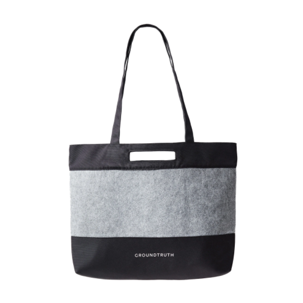 Black and Grey Eco-friendly Tote Bag Groundtruth