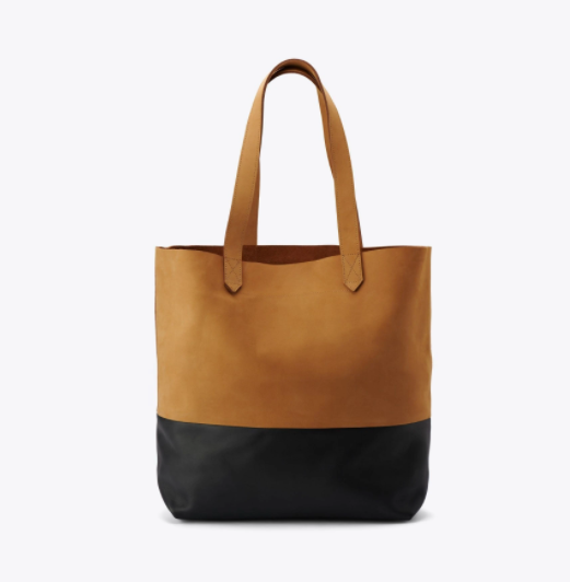 Two tone Leather Eco-friendly Tote Bag by Nisolo