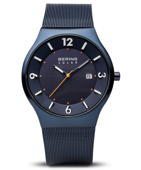 Solar Powered Watches - Bering Time Mens Slim Watch