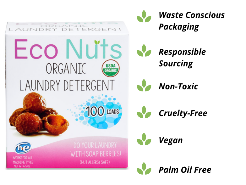 Eco Nuts Soap - Eco-friendly laundry detergent made with soap nuts