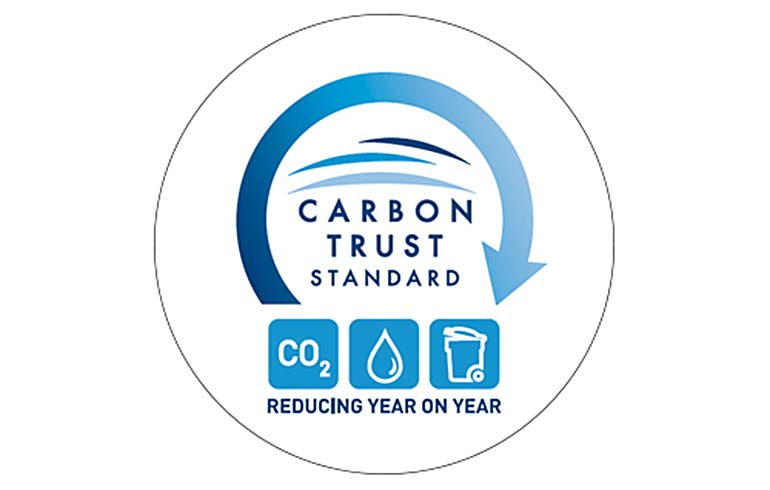 Sustainable certifications - Carbon Trust Standard Triple Logo
