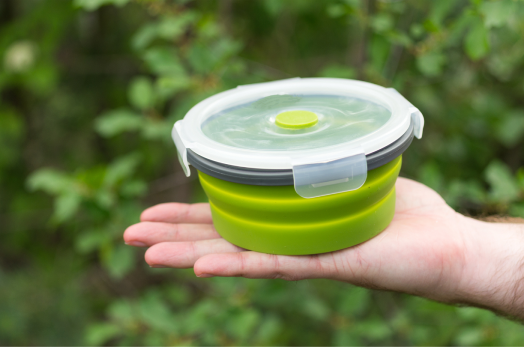 Collapsible Silicone Container - Eco Swaps - Image from Canva
