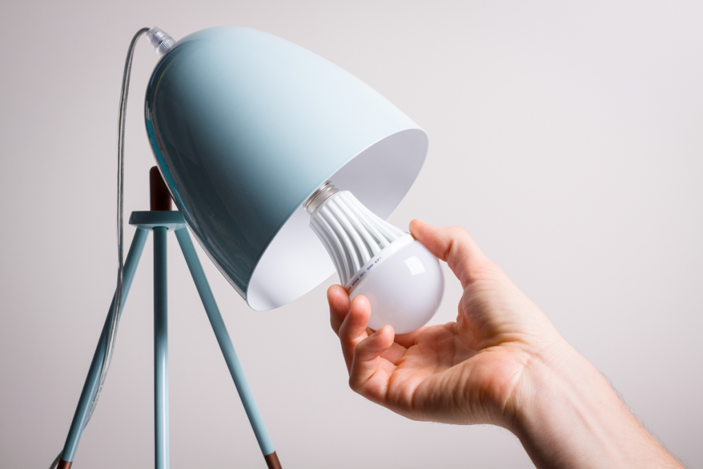 Eco Swaps - Energy Saving Light Bulb and lamp - image from Canva