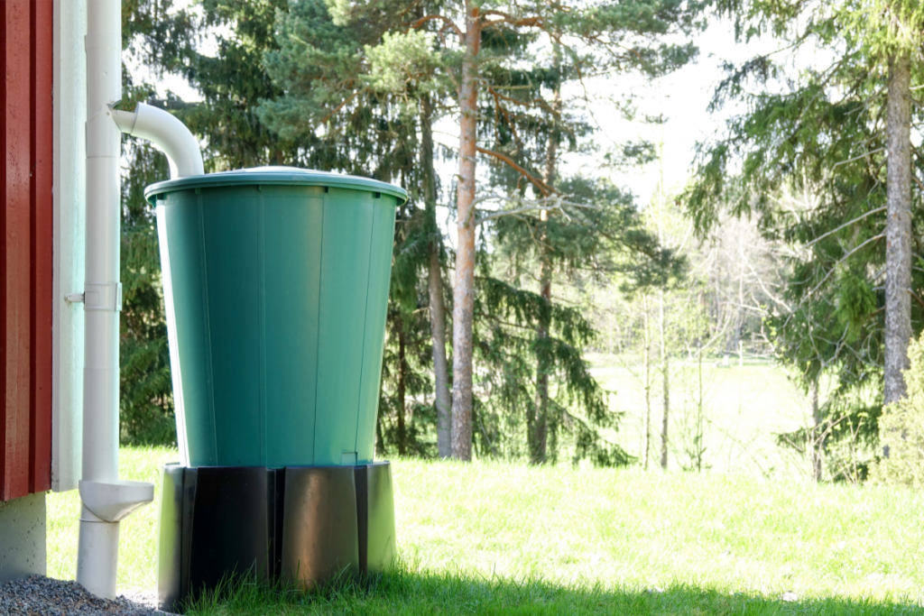 Ways to Conserve Water - Image of tank used for Rainwater Harvesting